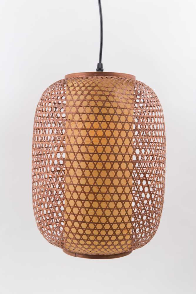 Japanese Ceiling Lighting Bamboo Hand Braided Small
