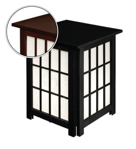 Japanese Floor Lamp Rice Paper Andon Black
