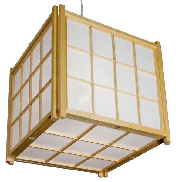 Japanese Kumo Rice Paper Ceiling Lighting Natural
