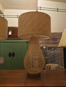Oriental Table Lamp Bamboo Handcrafted